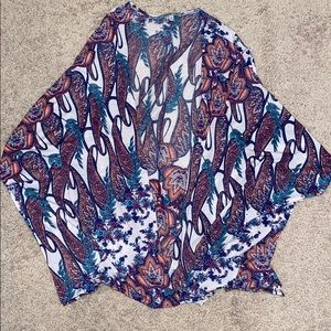 Charlotte Russe colorful light cardigan